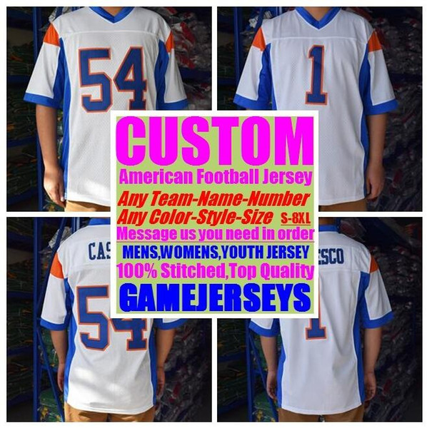 best selling Custom college american football jerseys mens womens youth kids soccer rugby stitched authentic jersey new fashion usa 4xl 5xl 6xl 7xl 8xl