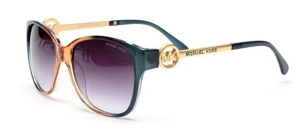 con estuche Gafas de sol de mujer Lentes de color teñidas Hombres Gafas de sol de lujo al aire libre Vintage Gafas femeninas Gafas de sol azules Diseñador de la marca