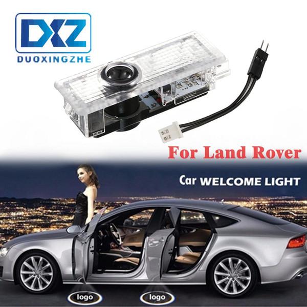 2Pcs LED Car Door Welcome Laser Projector Logo Door Ghost Shadow Light for Land Rover