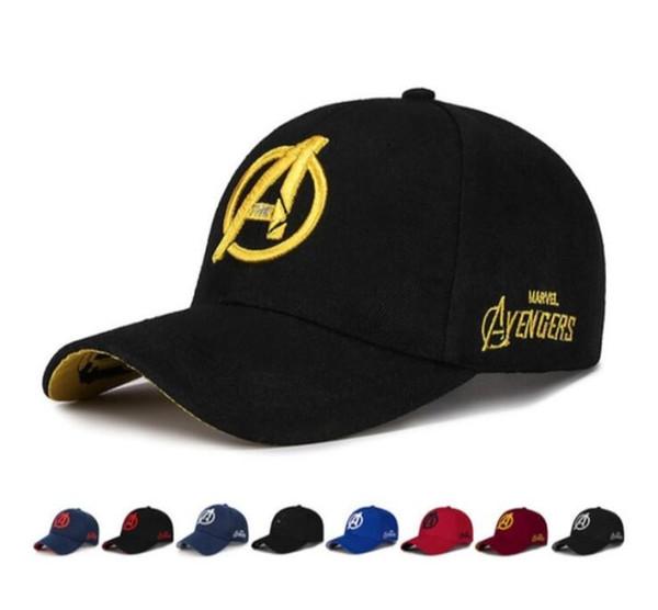 Unisex Marvel Avengers LOGO bordado Casual Gorras de béisbol al aire libre para hombres Snapback Gorras para adultos Sun Hat