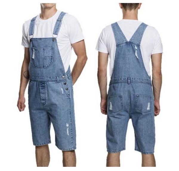 Fashion Mens Denim Overalls Jumpsuit Casual New Male Stylish Designer Jeans Jumpsuits Bib Bike Pants For Men