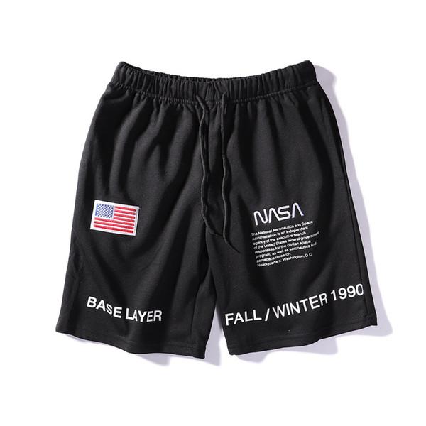 Moda Pantalones cortos de la NASA Hombres Ropa de moda Pantalones cortos de playa de verano Marca Tide Ocio Pantalones cortos para hombre Pantalones cortos ocasionales Streetwear