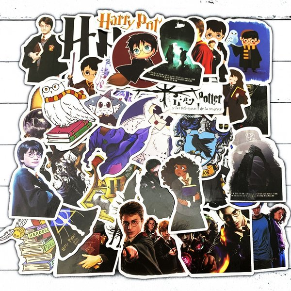50pcs/bag Car Stickers Graffiti Harry Potter paster For Laptop Skateboard Pad Bicycle Motorcycle PS4 Phone Luggage Decal Pvc guitar Stickers