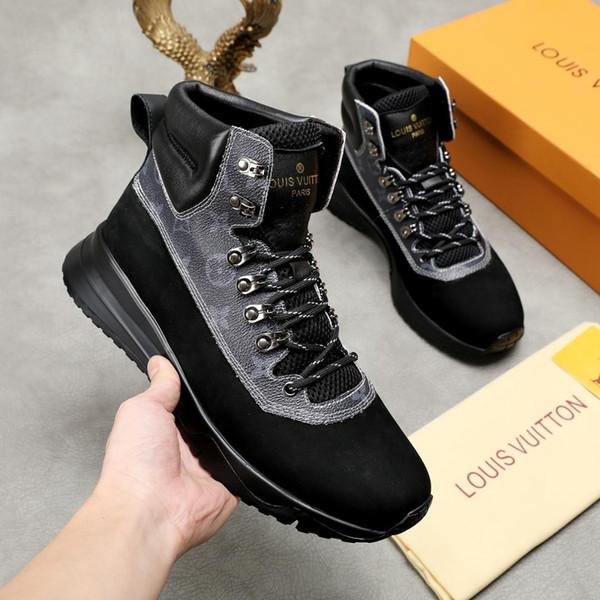 2019 nuove scarpe sportive da viaggio in pelle di alta qualità firmate, confezioni originali di lacci casual da uomo di alta qualità
