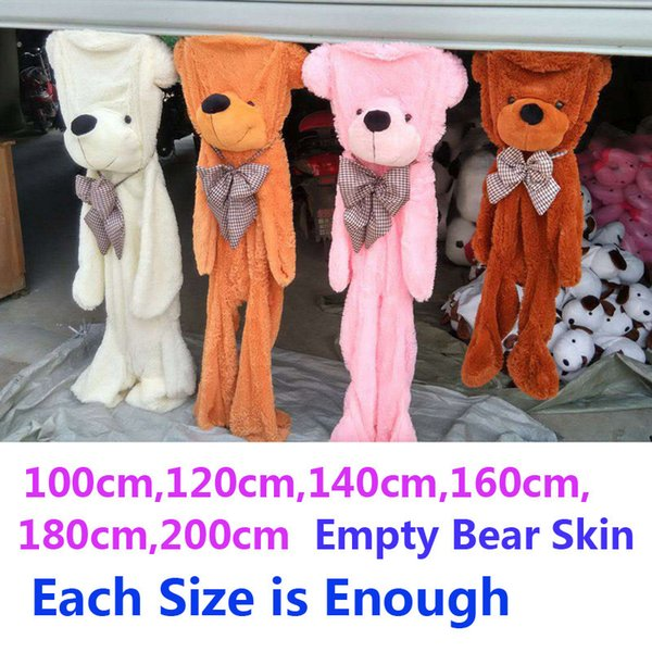 100cm-200cm 2m Bär Große Größe Ungefüllt Leere Plüschhaut Teddybären Fall Rosa Riesige Puppe Tier Gefüllte Häute Spielzeug Geburtstagsgeschenk J190718