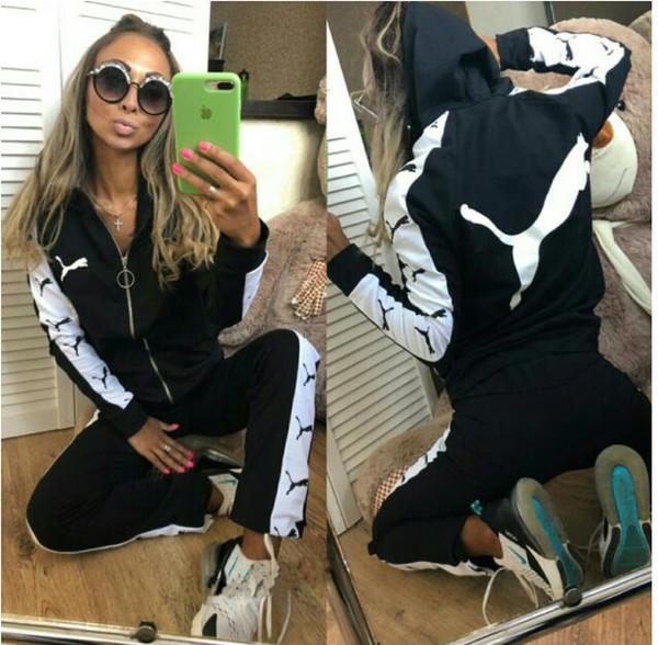 2019 new women sportswear group sport suit women sweatshirt hooded + leisure trousers suitable for sports fitness yoga movement jogging