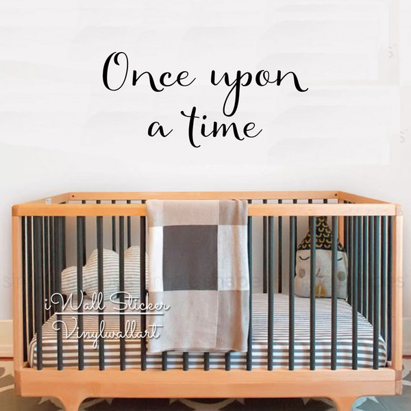 Once Upon A Time Quote Wall Sticker Wall Stickers For Kids Rooms Kids Room Decoration Wallpaper Children House Decoation Q281 Wall Decoration