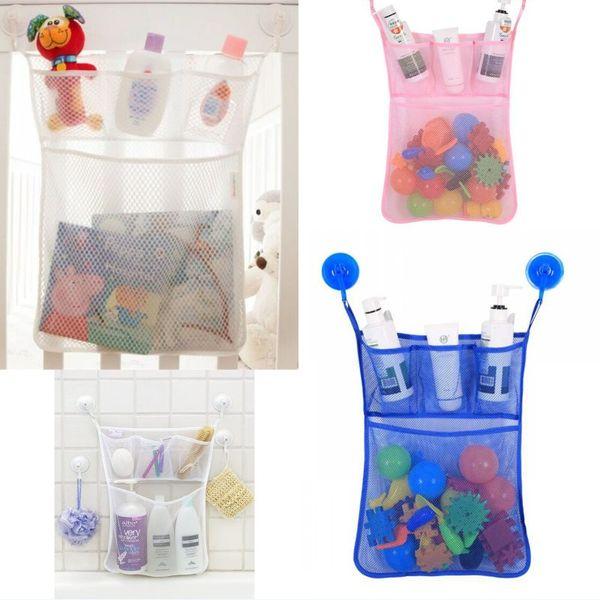 Toys Storage Bag Baby Kids Bath Tub Toy Tidy Storage Suction Cup Bag Mesh Bathroom Net Organiser