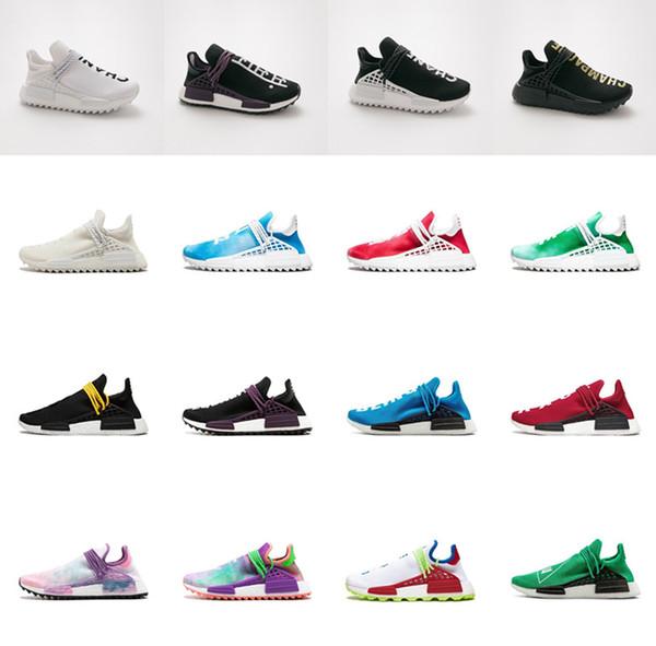 Human Race Herren Damen Laufschuhe Mit Box Pharrell Williams Gelb Core Schwarz Sport Designer Schuhe Sneakers 36-45