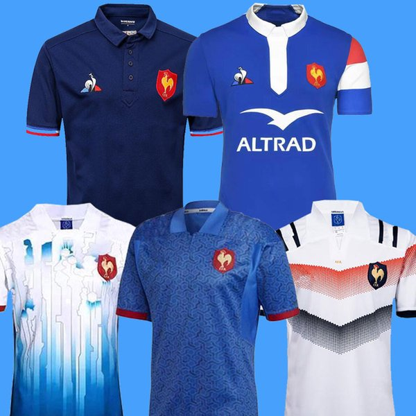 top popular New style 2018 2019 France Super Rugby Jerseys 18 19 France Shirts Rugby Maillot de Foot French BOLN Rugby shirt size S-3XL 2019