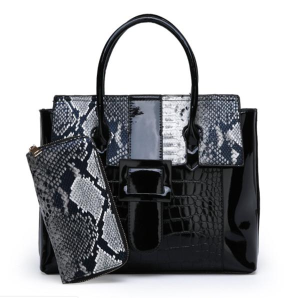 2019 nuevo bolso de mujer de dos piezas con estampado de serpiente estilo europeo y americano, moda hombro bolsa de mensajero al por mayor