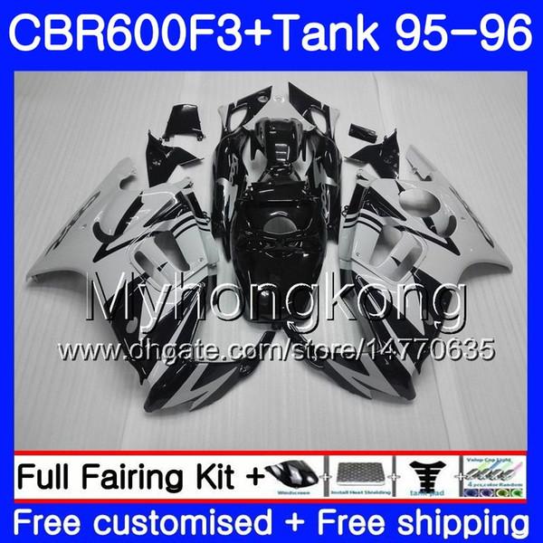 Bodys +Tank For HONDA CBR 600 F3 FS glossy grey frame CBR600FS CBR600 F3 95 96 289HM.34 CBR600RR CBR600F3 95 96 CBR 600F3 1995 1996 Fairing