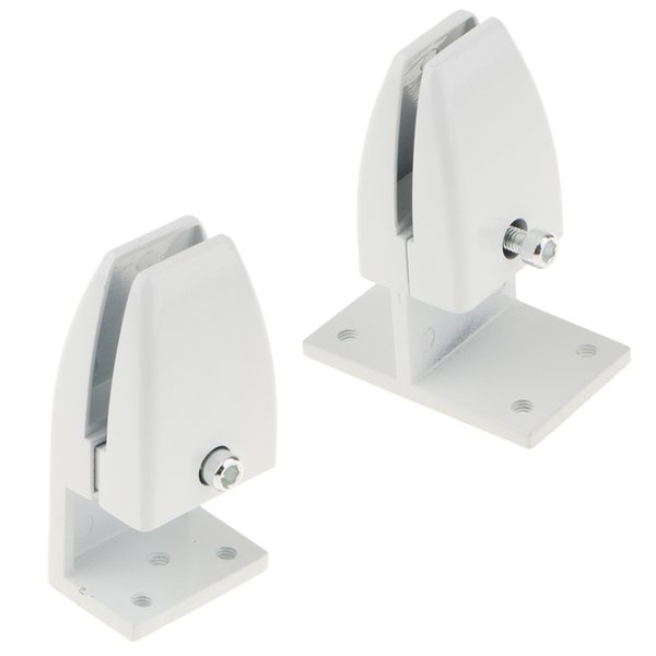 top popular 2 PCS Office Partition Support Desk Divider Privacy Screen Panel Clamps Clips - 2 Sizes 2021