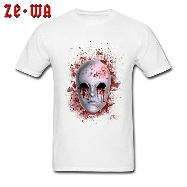 mens designer clothes brand polo Horror Male T shirt Porcelain Mask T Shirts Short Sleeve Casual Brand Men Summer TShirt Gothic Airsoft