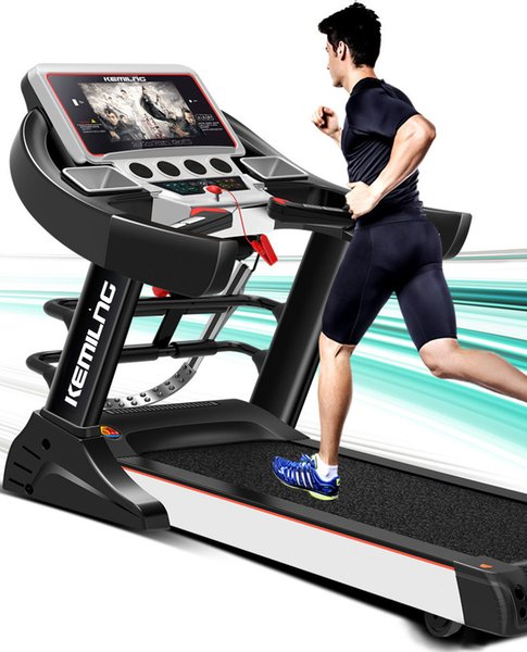 best selling 10.1 inch color screen WiFi Internet access video single function   multi-function household electric treadmill fitness equipment