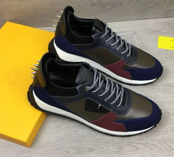 yellow eyes little monsters Top quality All cowhide stitching Men's casual shoes Luxury 2019 brands free shipping 38-46 83131