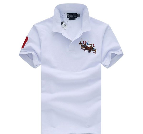 Polo sportivo di modo di polo 19ss uomini magliette sportive progettista maglietta Boutique Business ricamo logo cotone comodo di marca magliette ss caldo