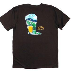 ToadCo Mens Pint Meio Cheio De Algodão Orgânico Ao Ar Livre Beer Impressão T-Shirt Sz M