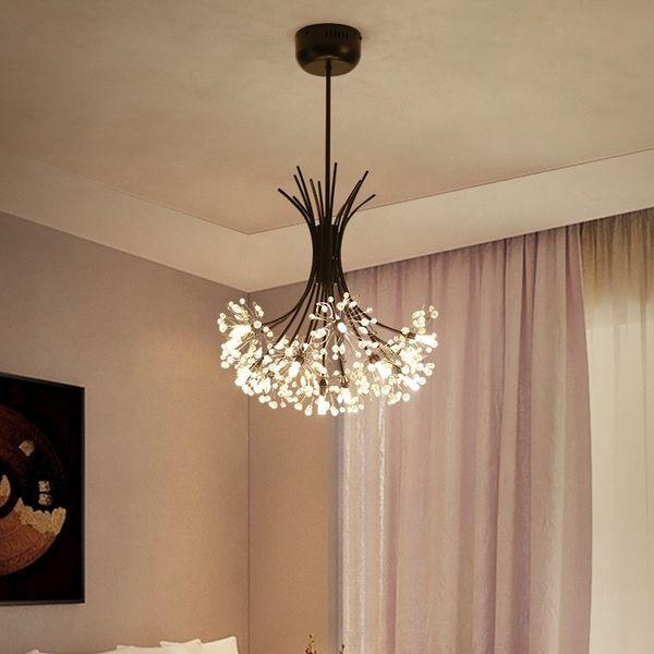 Nordic LED Kronleuchter amerikanischen postmodernen minimalistischen Löwenzahn Kristall kreative Bar Schlafzimmer Wohnzimmer Esszimmer Pendelleuchte - R33