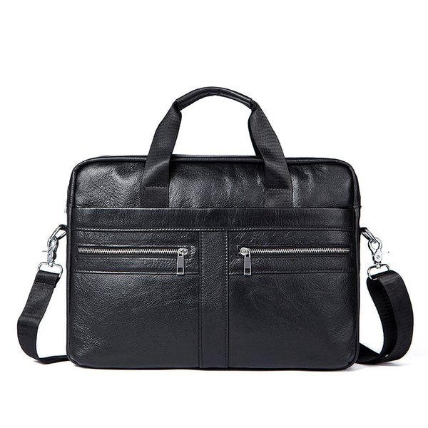 2019 Time-limited Kvky Brand Business Men Briefcases 100% Genuine Leather Handbags Cow Large Messenger Bags Laptop With Handle