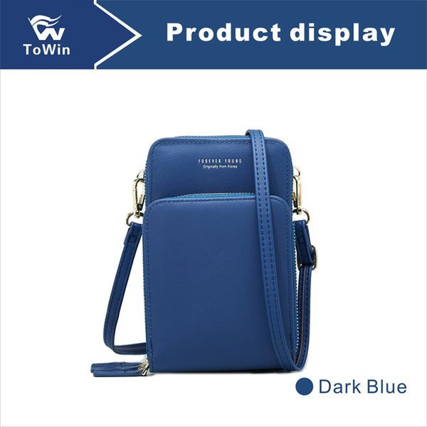 Brand New Designer Crossbody Bags Luxury Cellphone Pouch Quality Messenger Bag PU Leather Cell Phone Pocket Shoulder Bag Casual Handbag 2019
