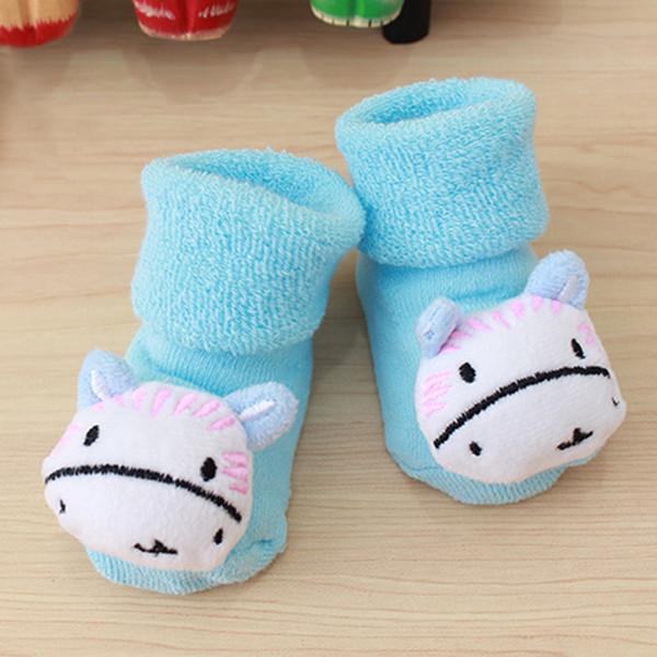 Love Cute Newborn Baby Kid Toddler 3D Cartoon Plush Socks Infants Anti Slip Sock