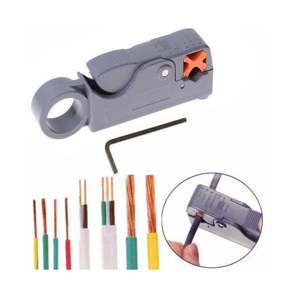 LS-332 Coaxial Household Multitool Cable Stripper/Cutter Tool Rotary Coax Stripp Cable Stripper Carbon Steel Wire Cutter