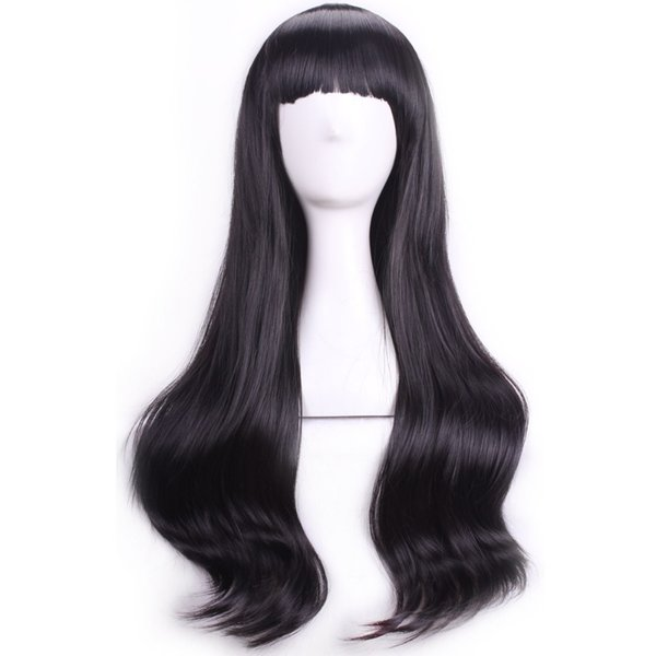 Parrucche e parrucchi Parrucca di capelli neri ondulati Syntheitc resistente al calore parrucca di capelli Costume cosplay del partito di parrucchiera parrucca Bob Accessori