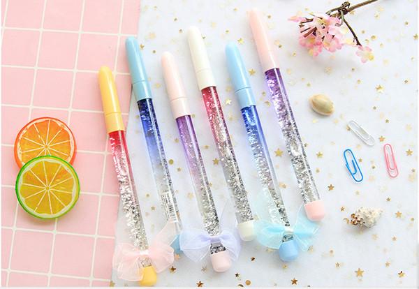 Лучшие продажи гелевые ручки ослепительно цвет зыбучие пески нейтральная ручка корейский Xiaoqing прекрасный тремоло чистая красная Фея волшебная палочка pen358