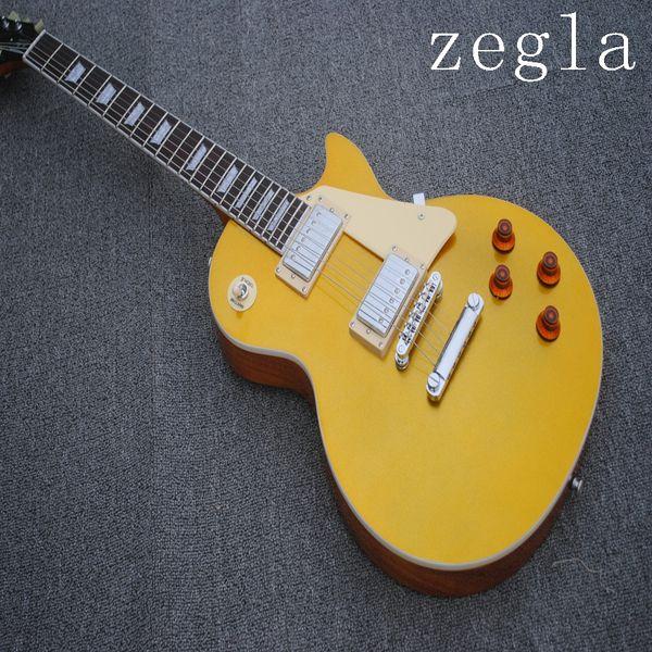 Nouveau style guitare LP Standard de haute qualité, touche palissandre, guitare métal doré, matériel argenté, expédition