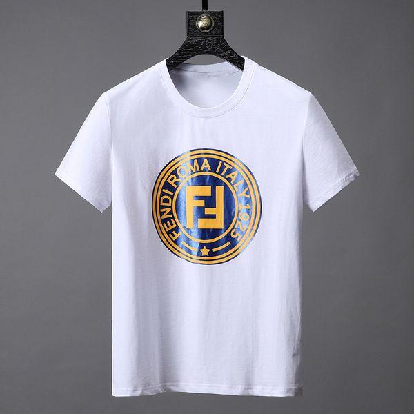 2019 Camisa de lujo Marca de moda para hombre Camiseta Manga corta Algodón Casual Camiseta Top Hombres Ropa