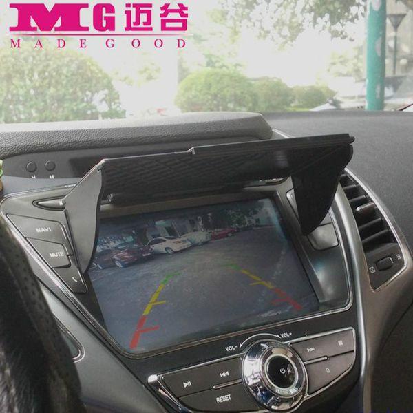 Accesorios de navegación GPS para automóviles de 6-10 pulgadas Sombrilla universal Sunshine Sun Shade GPS Pantalla Visor Campana Ancho 145 mm-245 mm