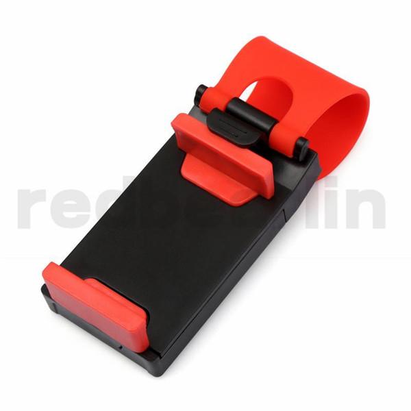 car mount Car Streeling Steering Wheel Cradle Holder SMART Clip Car Bike Mount for Mobile iphone samsung Cell Phone GPS Christmas Gift us1