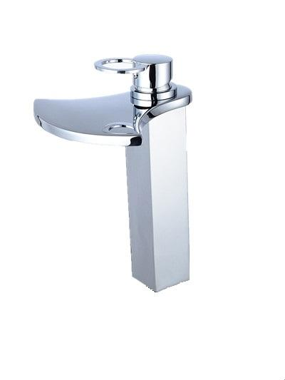 Factory Direct Sale New Brass Chrome Finish Deck Mount Square Type Sink Faucet