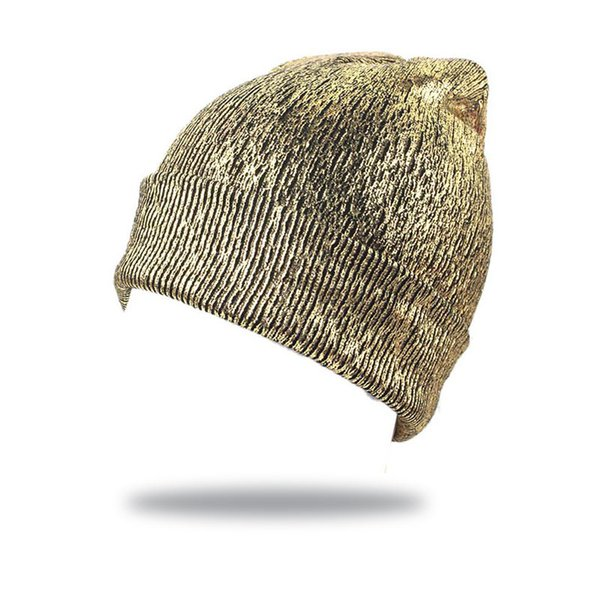 Women Fashion Hat Knitted Bronzing Beanies Hat Ear Protection Crochet Winter Glittering Caps Ladies Comfortable Beanies
