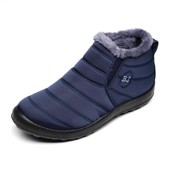 2019 New Fashion Men Winter Schuhe Solide 3 Farbe Schneeschuhe Plüsch Innen Rutschfeste Unterseite Warm halten Wasserdichte Skischuhe Größe