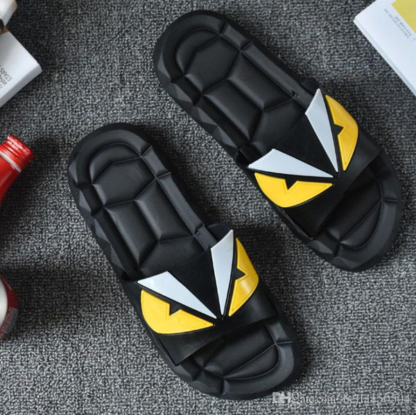 Luxury Designer Rubber Sandals Shoes Slides Summer Beach Indoor Flat G Sandals Slippers House Flip Flops With Spike sandal FREE SHIPPING