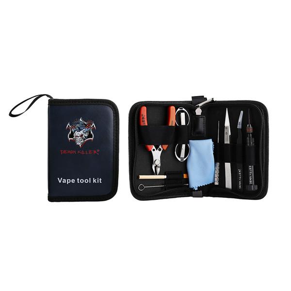 Original Demon Killer Vape Tool Kit With Ceramic Tweezer Bent Screw DIY Coil Jig For RDA RBA Atomizers e-Cig Accessories