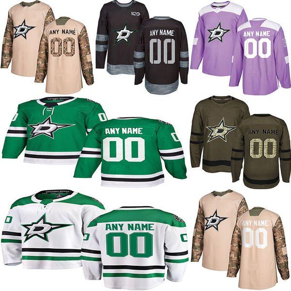 2018 -2019 Notícias Dallas Stars Hockey Jerseys Vários estilos Mens Personalizado Qualquer Nome Qualquer Número Hockey Jerseys