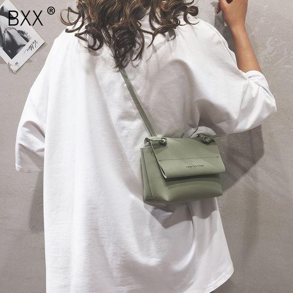[BXX] 2019 Mulheres Nova Chegada de ombro único Crossbody Bag Ladies All-jogo Bag Verão Flap simples Hadbag HE500