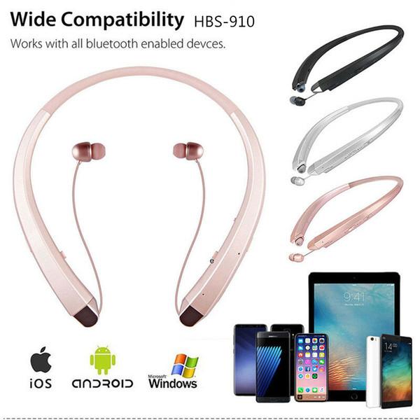 HBS-910 Sem Fio Bluetooth fones de ouvido CSR4.1 esporte ao ar livre portátil fone de ouvido bluetooth HIFI fone de ouvido estéreo HQ HBS910