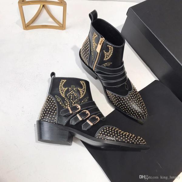 2019 nuevo diseñador de moda casual Diseñadores Calzado Cómodo Mocasines de ocio suave Adultos Transpirable 35-40 con caja botas hermosas