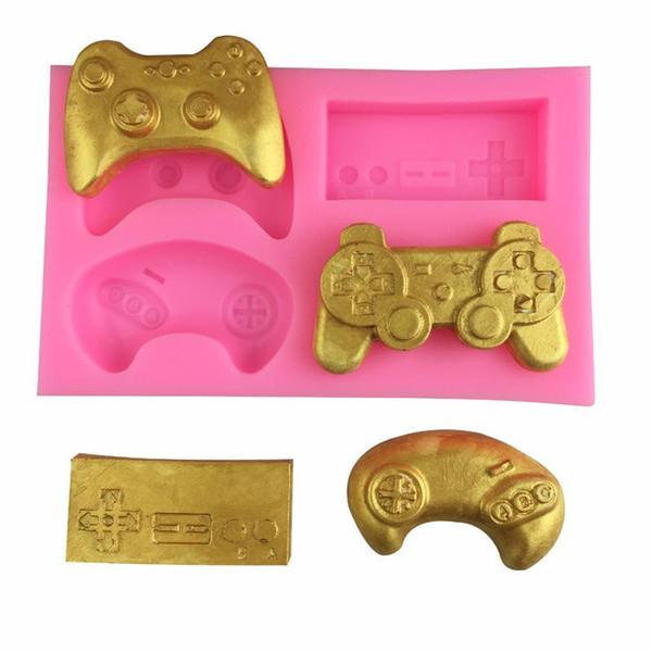 Controlador de jogo molde de chocolate molde de doces artesanais padrão de silicone morrer ferramentas de cozimento de cozinha não tóxico durável 3 5dya c1