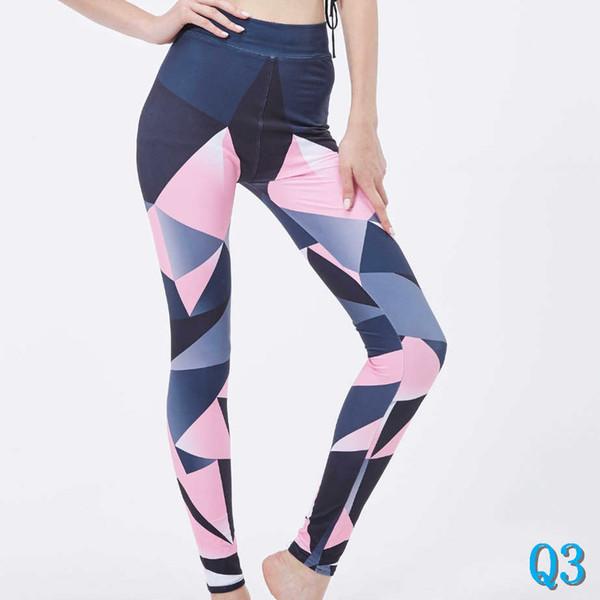Pantaloni stampati ghette a vita alta, Print per lo yoga correnti di sport pantaloni con 10 colori AvailiableQ3