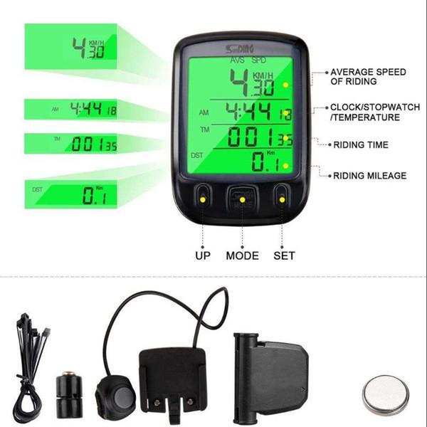 Waterproof Wired LCD Digital Cycle Bike Bicycle Computer Speedometer Odometer