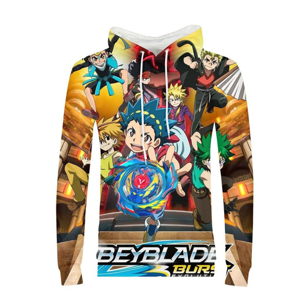 Beyblade Burst Game 3D Print Boys Hoodies Teens Spring Autumn Kids Hooded Sweatshirt Clothes Children Long Sleeve Pullover Tops