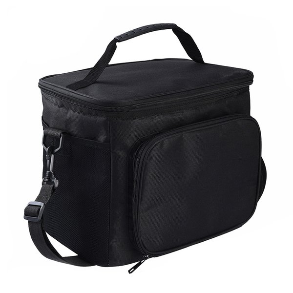High Quality Large Insulated Lunch Bag With 2 Reusable Cooler Ice Packs Pull Zippers Detachable Shoulder Strap Roomy Compar