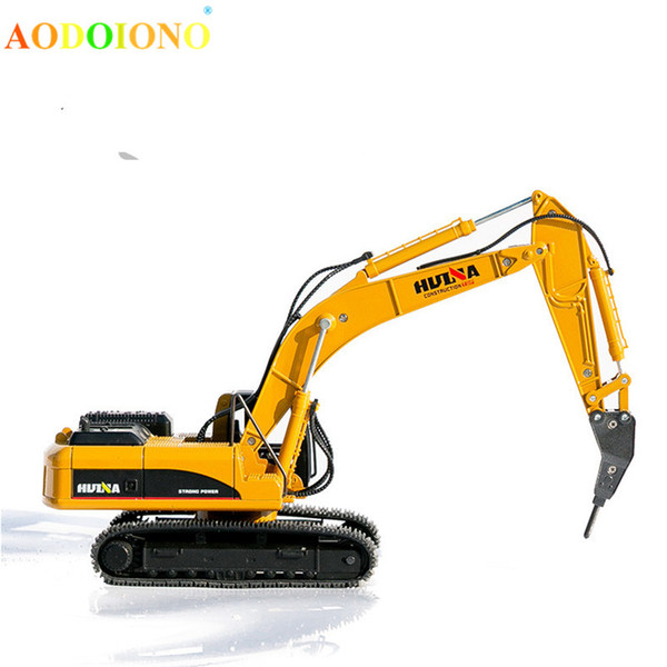 1:50 Excavator Breaker Car Model Toy Engineering Vehicle Truck Diecast Car Models Toys for Boy Children Xmas Birthday Gift Toy