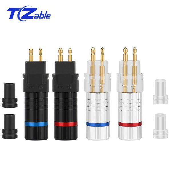 10 teile / paket Audio Connector Adapter DIY Kopfhörer Upgrade Stecker gold Hifi Kabel Für HD600 HD650 HD580 HD25 Geschweißte Kopfhöreranschluss AUX