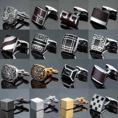 Retro Pattern Series Manschettenknöpfe Luxus Multidimensional Cube Manschettenknöpfe Studs Mens Französisch Hemd Manschettenknöpfe Modeschmuck Sonderangebot